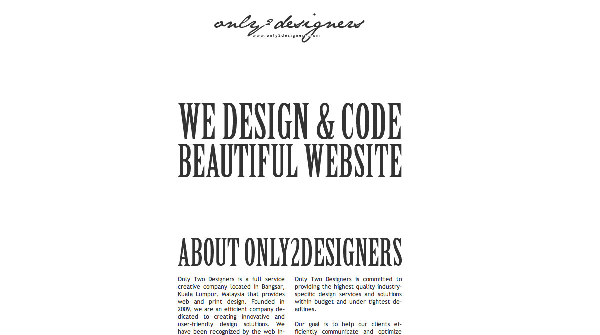 Only 2 Designers