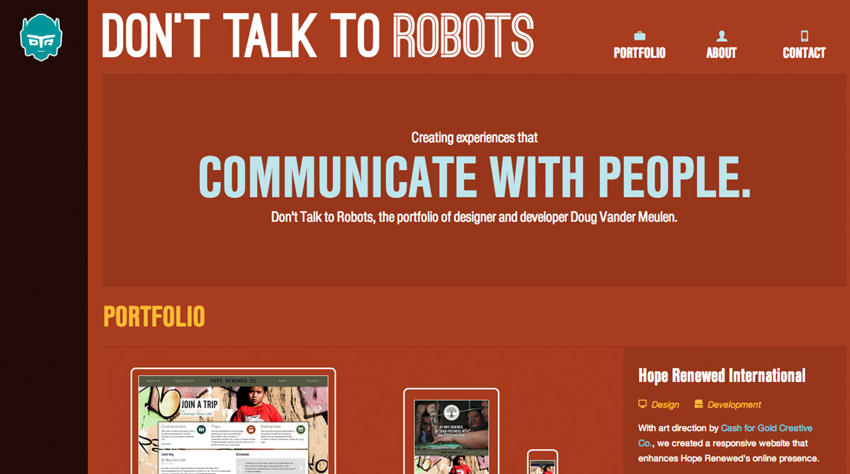 Don&#8217;t Talk To Robots