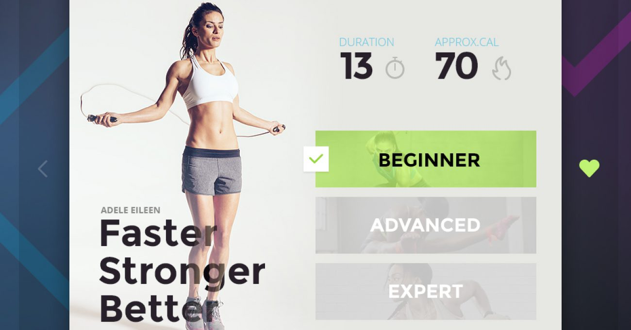 Fitness Card UI