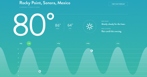 Current Conditions Weather UI