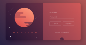 Martian Sign Up UI