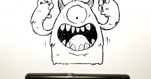 Pen Brush Monster